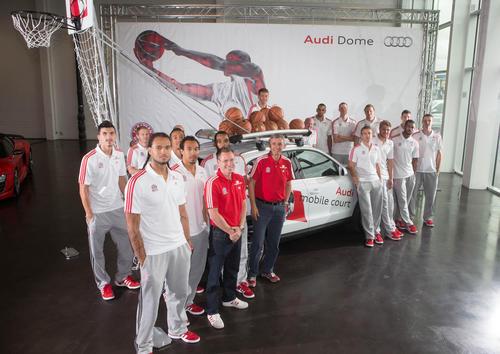 Die Mannschaft des FC Bayern Basketball