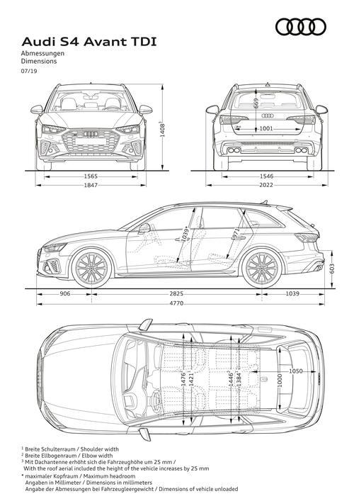 Audi a6 maße