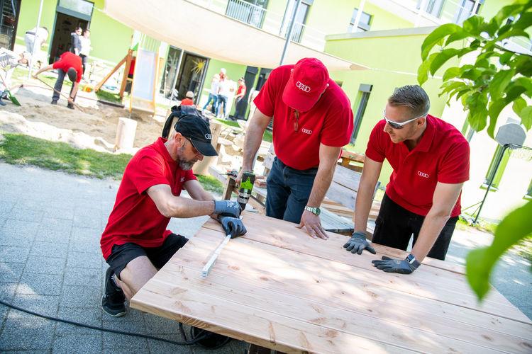 Wenn wir alle alles geben: Das ist das Motto des siebten Audi-Freiwilligentages in Ingolstadt und der Region