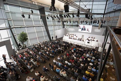 Die 130. Ordentliche Hauptversammlung der AUDI AG am 23. Mai 2019 in Neckarsulm.