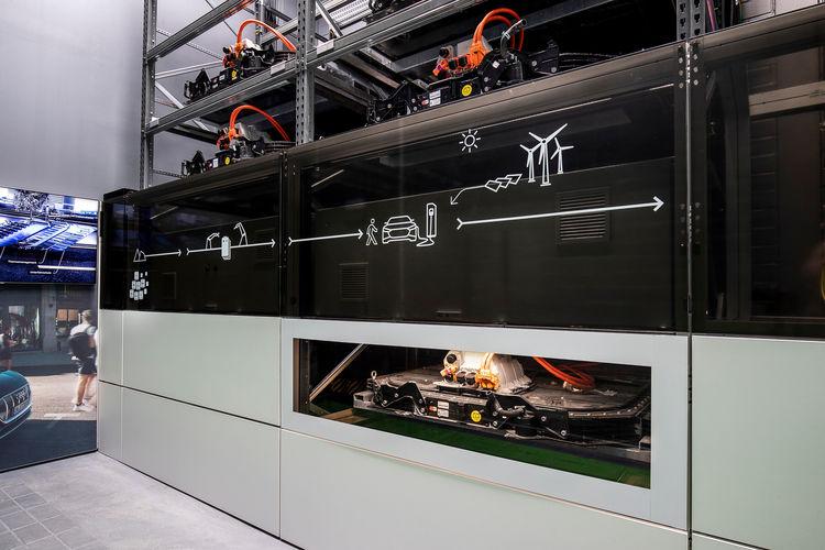 Batteriespeicher auf dem EUREF-Campus in Berlin