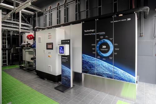 Battery storage unit on EUREF Campus in Berlin