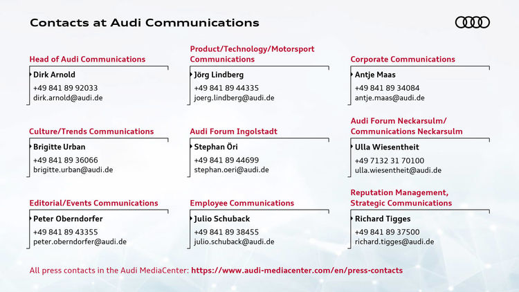 Contacts at Audi Communications