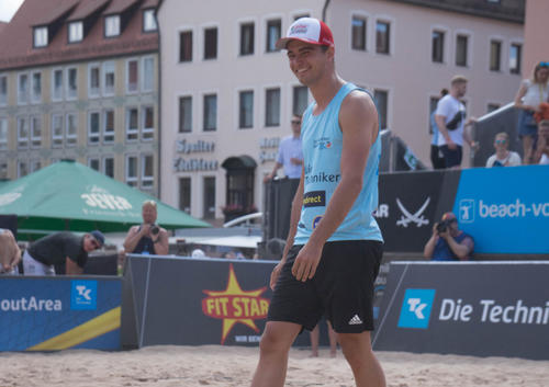 Nico Müller at the Techniker Beach Tour in Nuremberg
