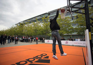Action der Basketballer