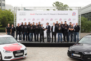 The team of FC Bayern Munich basketball