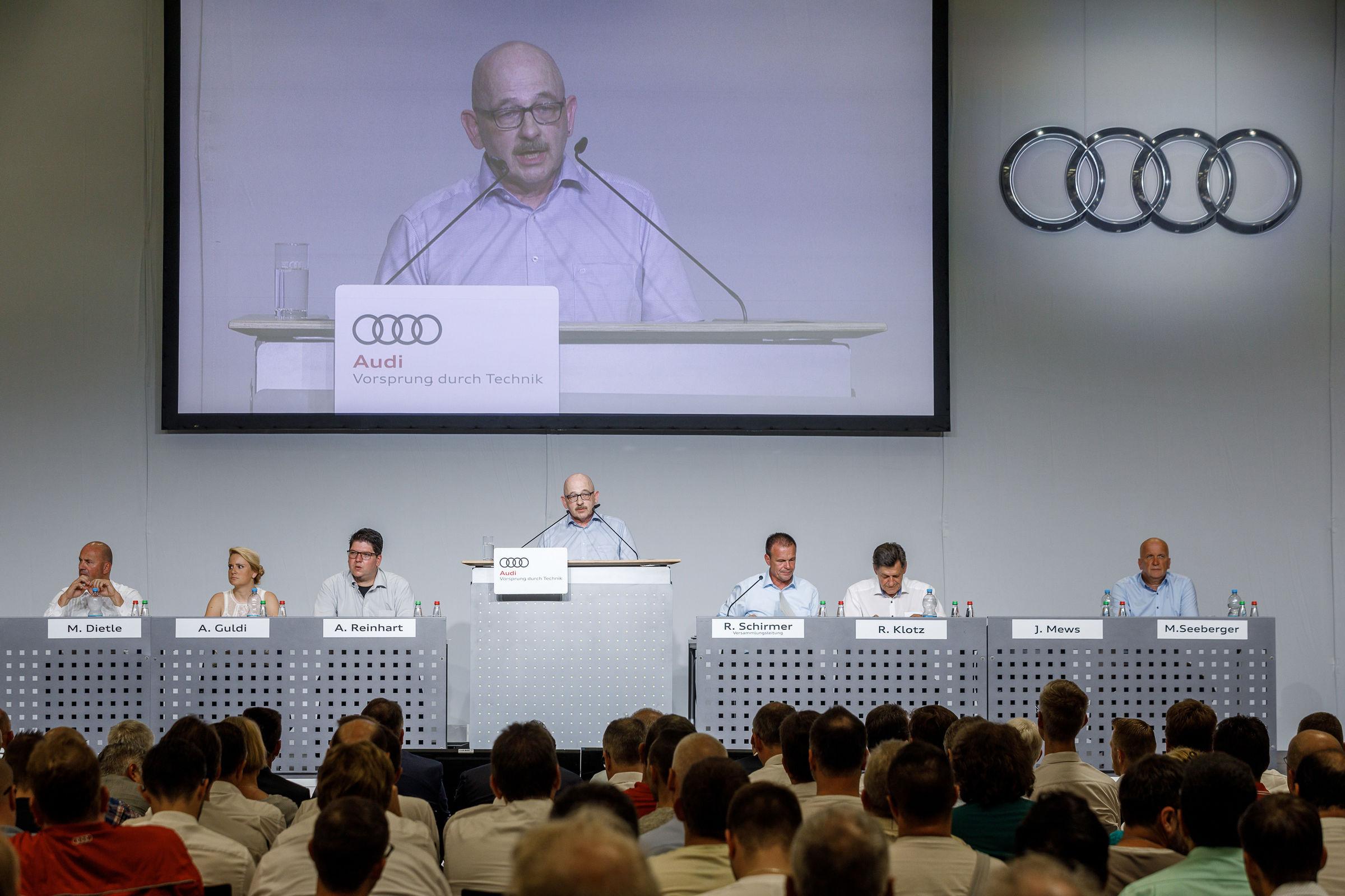 Betriebsversammlung bei Audi in Neckarsulm
