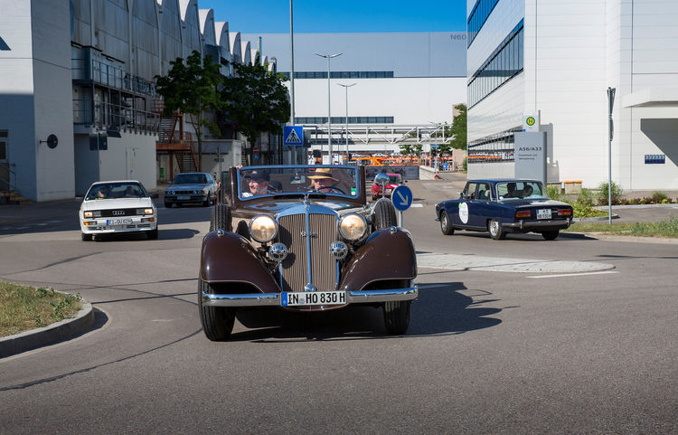 Oldtimer im Audi-Werk