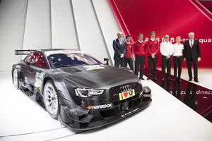 World premiere of new Audi RS 5 DTM in Geneva
