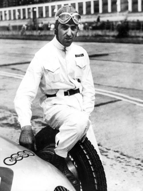 Tazio Nuvolari (born November 16th, 1892, died August 11th, 1953) is one of the greatest race drivers of all times, counting 61 Grand Prix victories and international successes