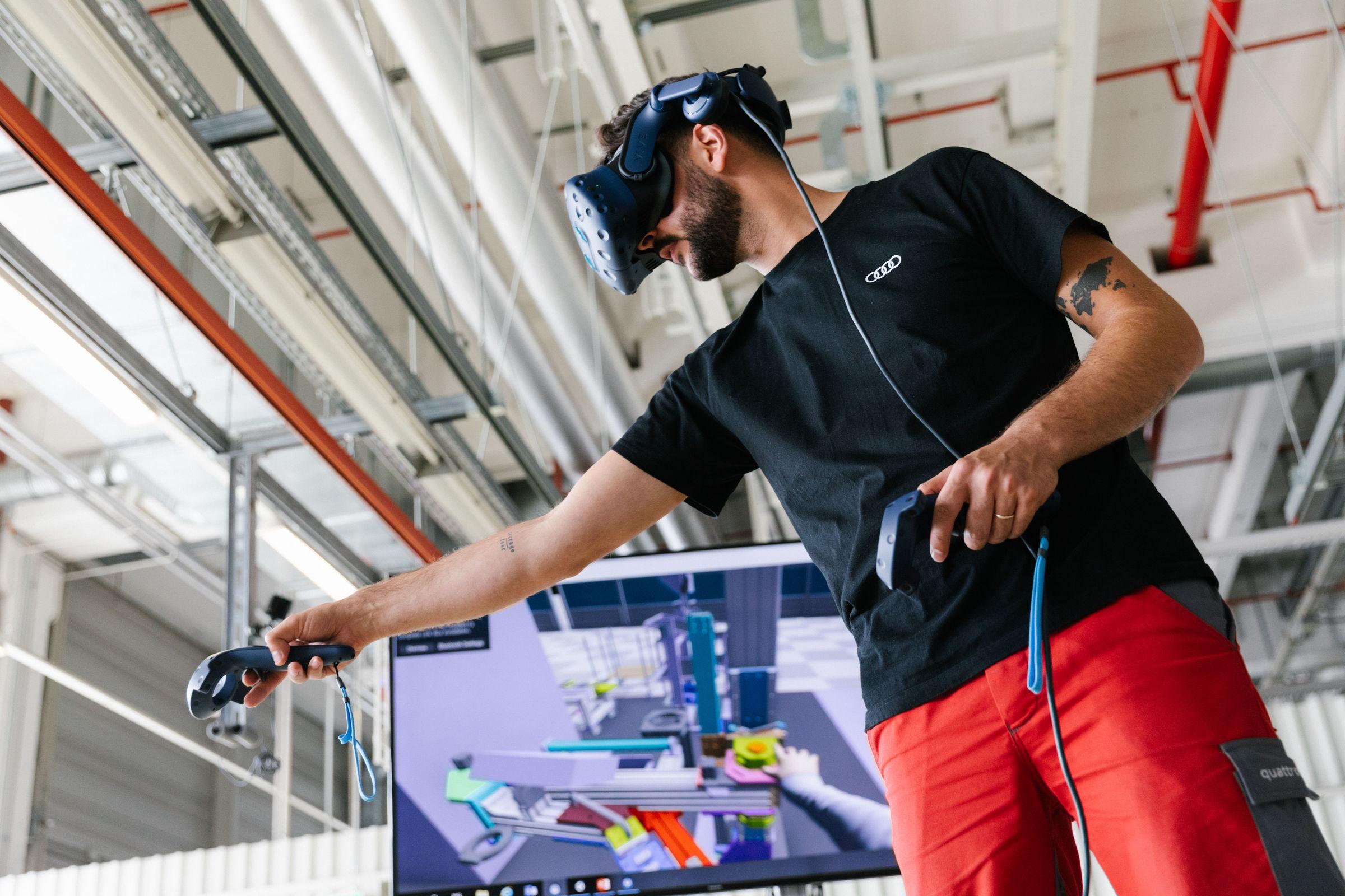 Audi erprobt Montageabläufe des e-tron GT rein virtuell