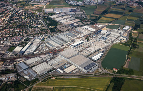 Aerial photo of Audi site Ingolstadt
