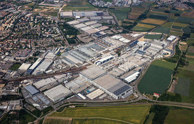 Aerial photo of Audi site Ingolstadt