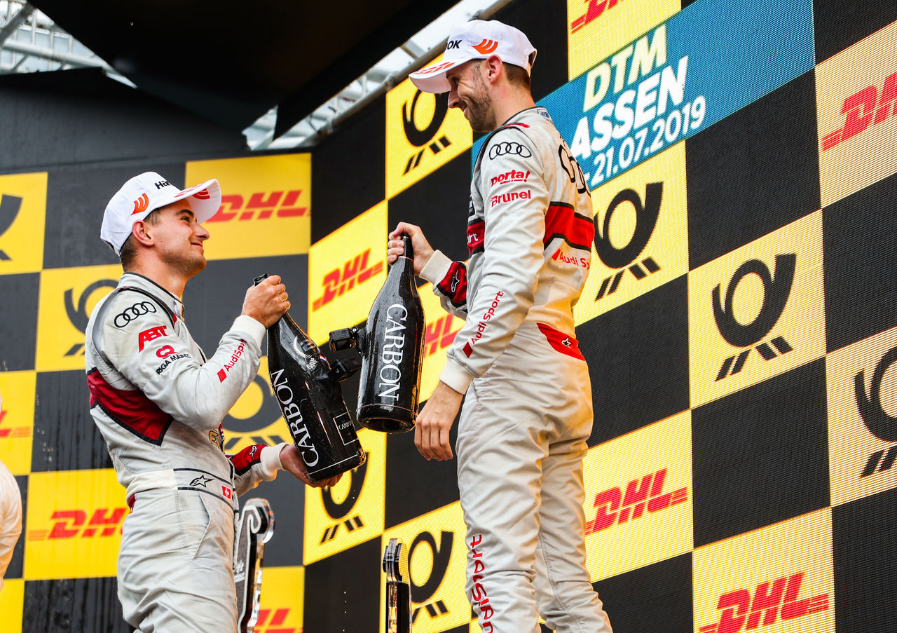 Double podium for Audi in rain battle at Assen
