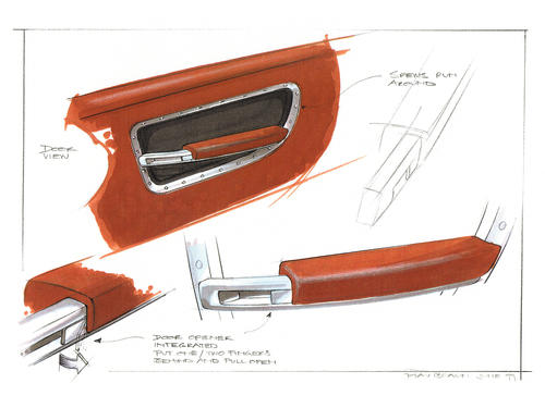 Steppenwolf project - Design sketch for inside of door
