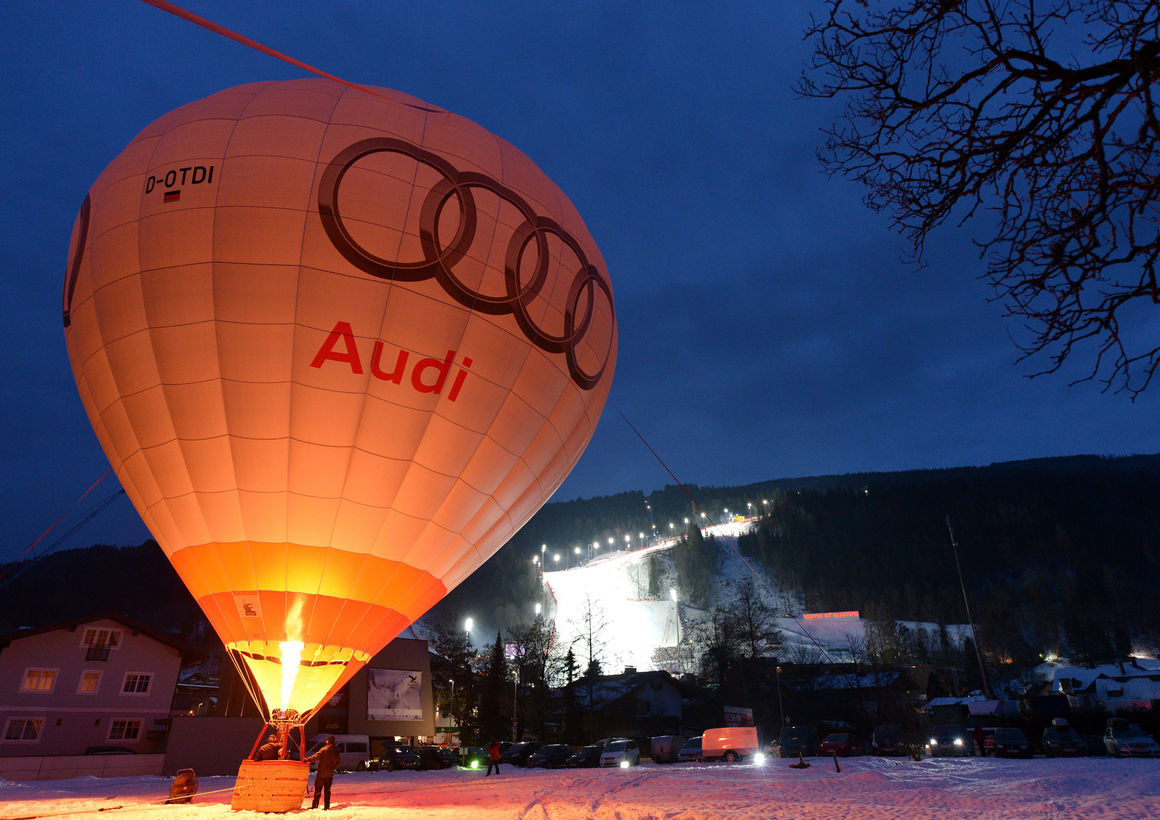 Der Audi-Ballon in Schladming