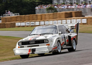 "Star at the Audi stand: the Audi Sport quattro S1 ""Pikes Peak""."