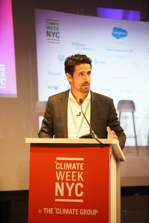 Lucas di Grassi speaks at Climate Week NYC