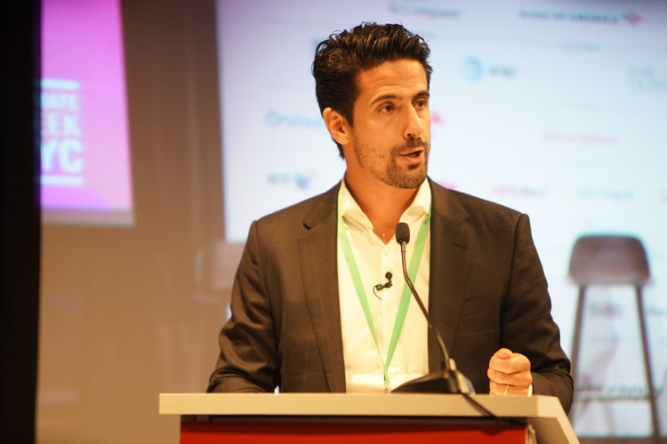 Lucas di Grassi speaks at Climate Week NYC