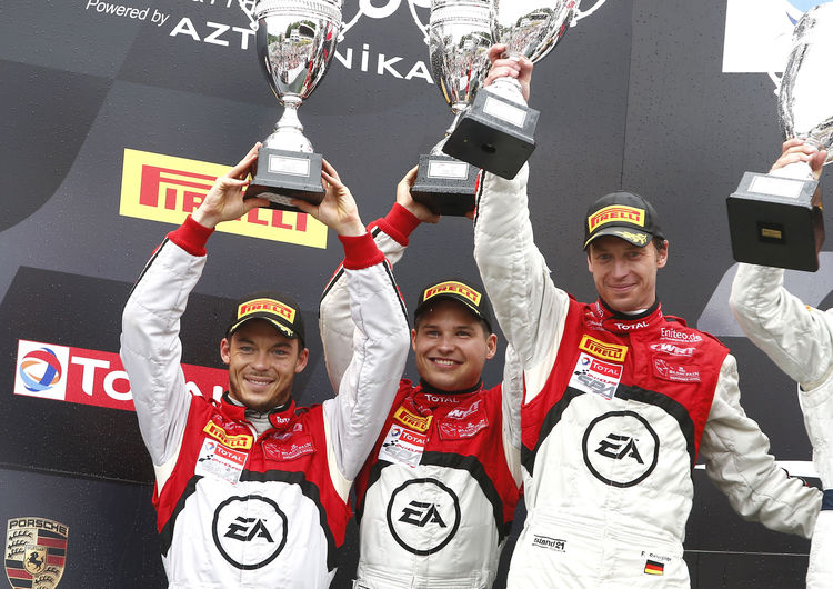 Audi R8 LMS ultra in Spa auf dem Podium