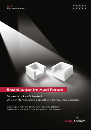 """Audi.torium """"Seines Klickes Schmied"""":  Maschinen auf dem Vormarsch"""