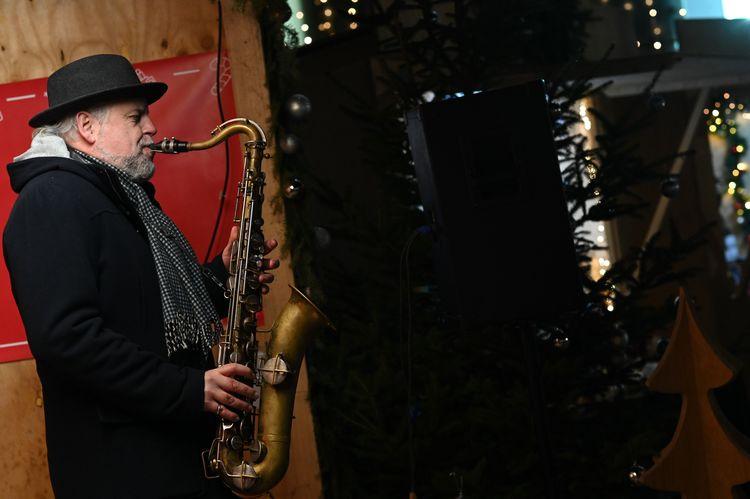 Konzert auf dem Sozialen Weihnachtsmarkt
