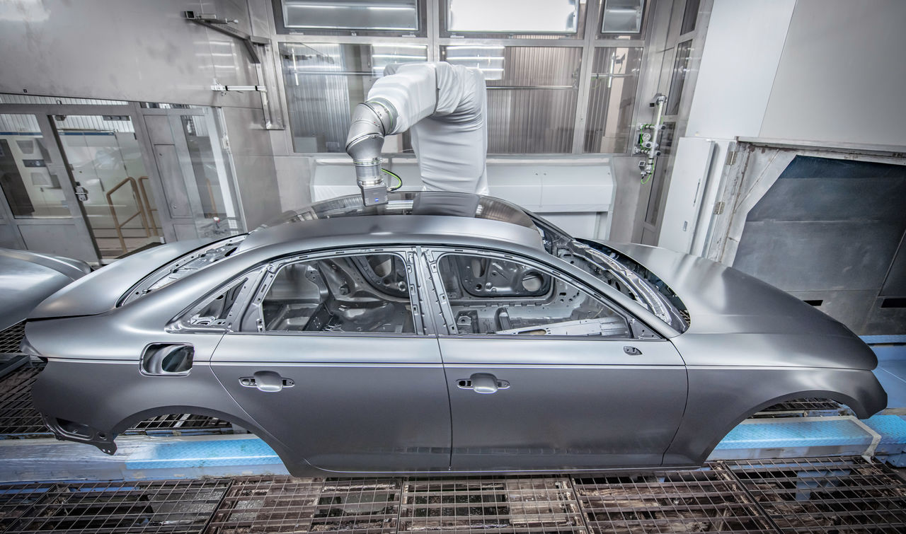 "Audi adopts ""overspray-free painting"" in series production"