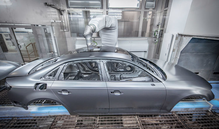 """Audi adopts """"overspray-free painting"""" in series production"""
