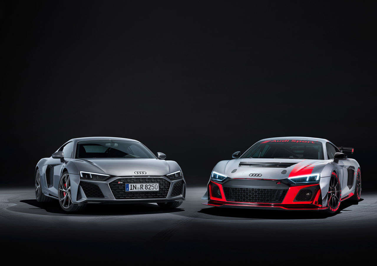 Even sharper and more striking: ||The Audi R8 V10 RWD and the Audi R8 LMS GT4