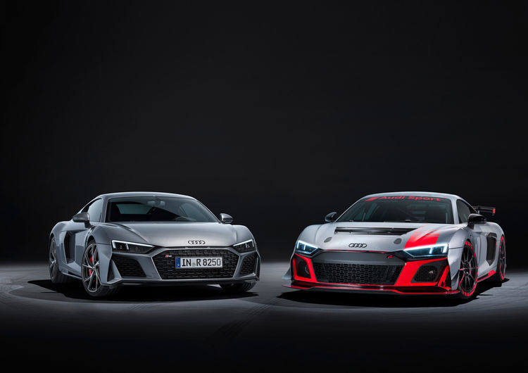 Audi R8 V10 RWD und der Audi R8 LMS GT4