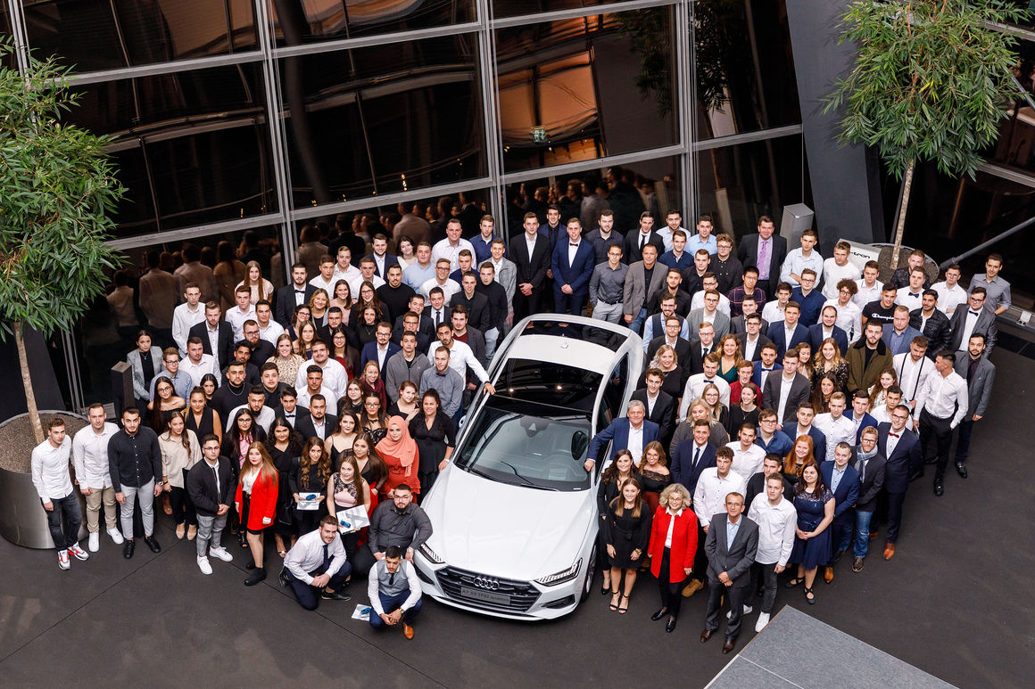 Audi Neckarsulm hires 149 apprentices and 14 dual education students