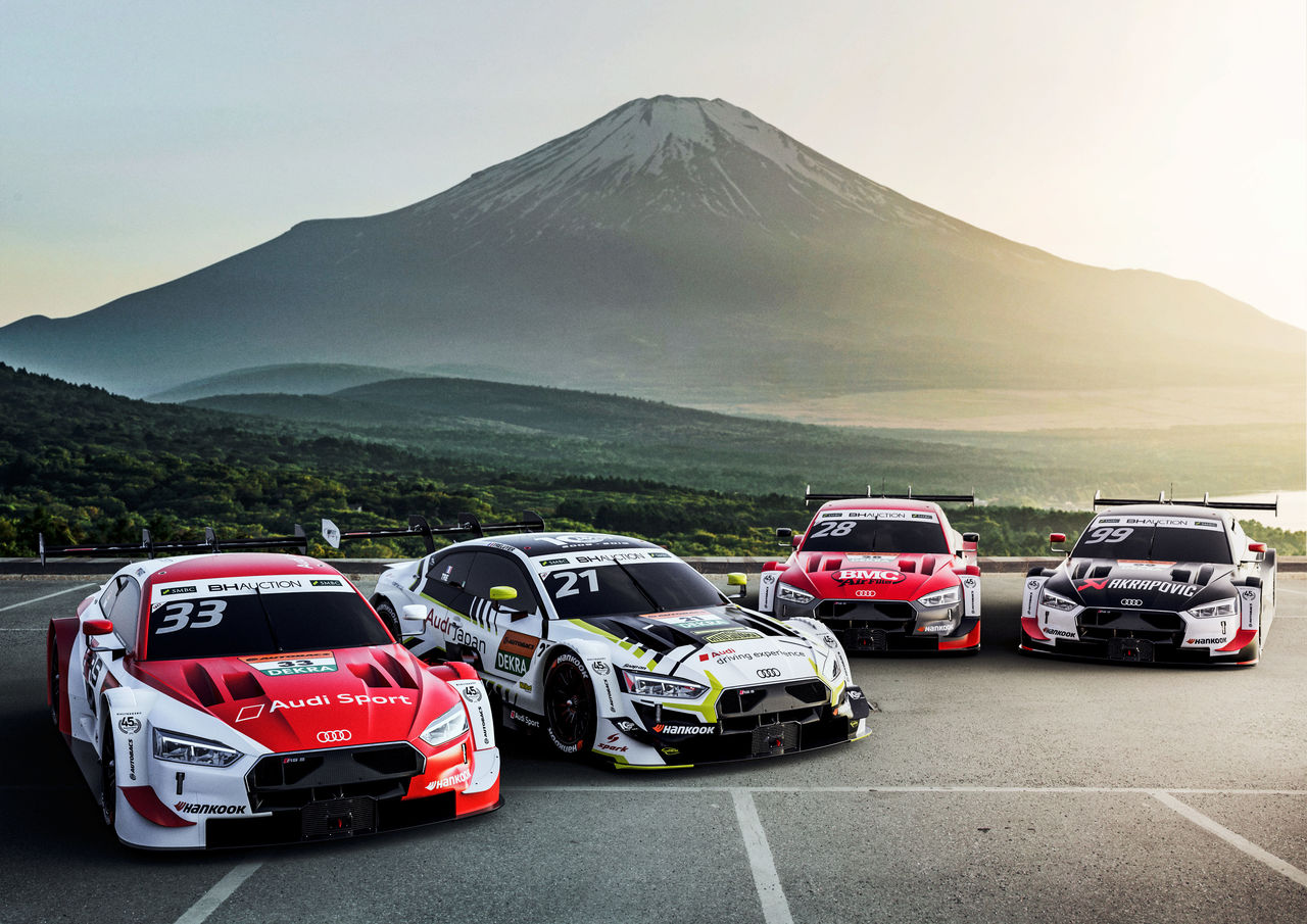 "A dream comes true: four Audi RS 5 DTM in ""dream race"" in Japan"