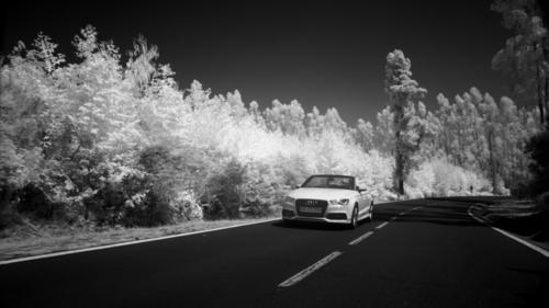 Shooting of Audi video clip with new infrared camera