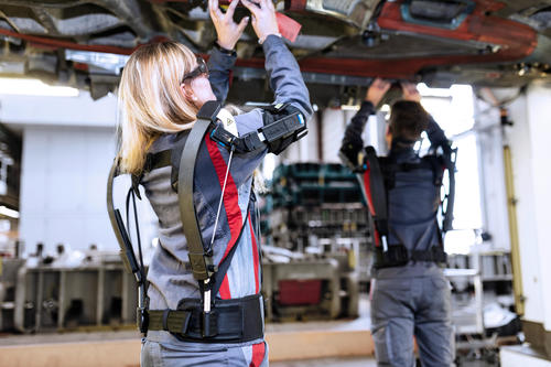 Being tested: Audi production tests exoskeletons for overhead tasks