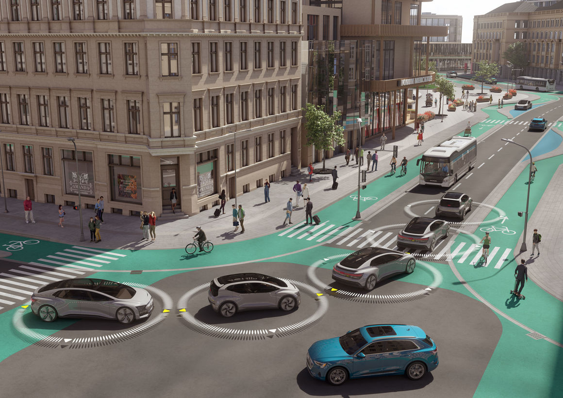 """Audi study """"25th Hour – Flow"""": No Congestion in the City of the Future"""