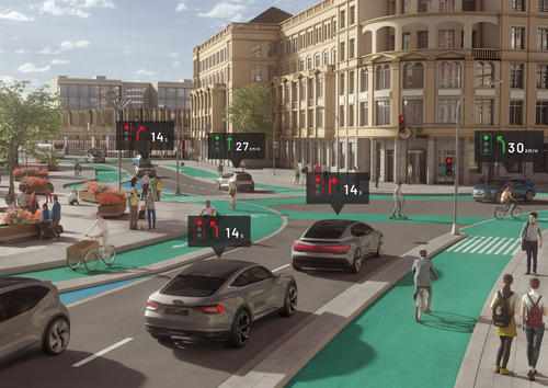 "Audi study ""25th Hour – Flow"": No Congestion in the City of the Future"