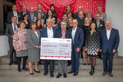 Belegschaftsspende: Audianer unterstützen regionale Organisationen mit 725.000 Euro