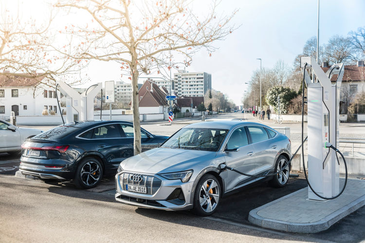 Charging offensive at Audi