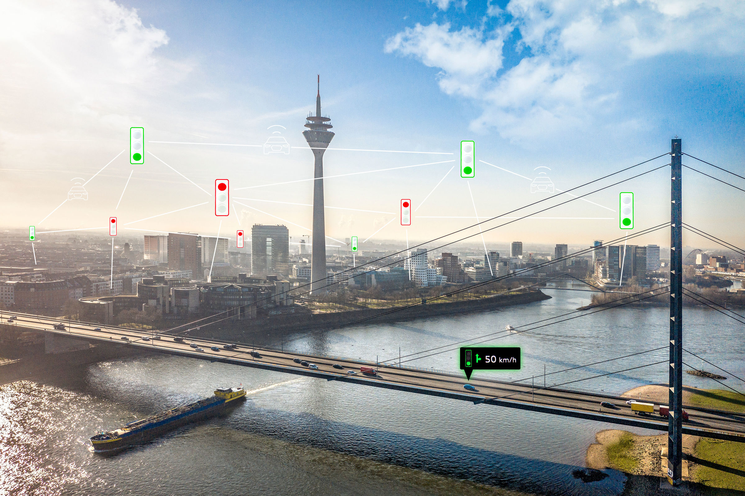 Audi networks with traffic lights in Düsseldorf - Image 4