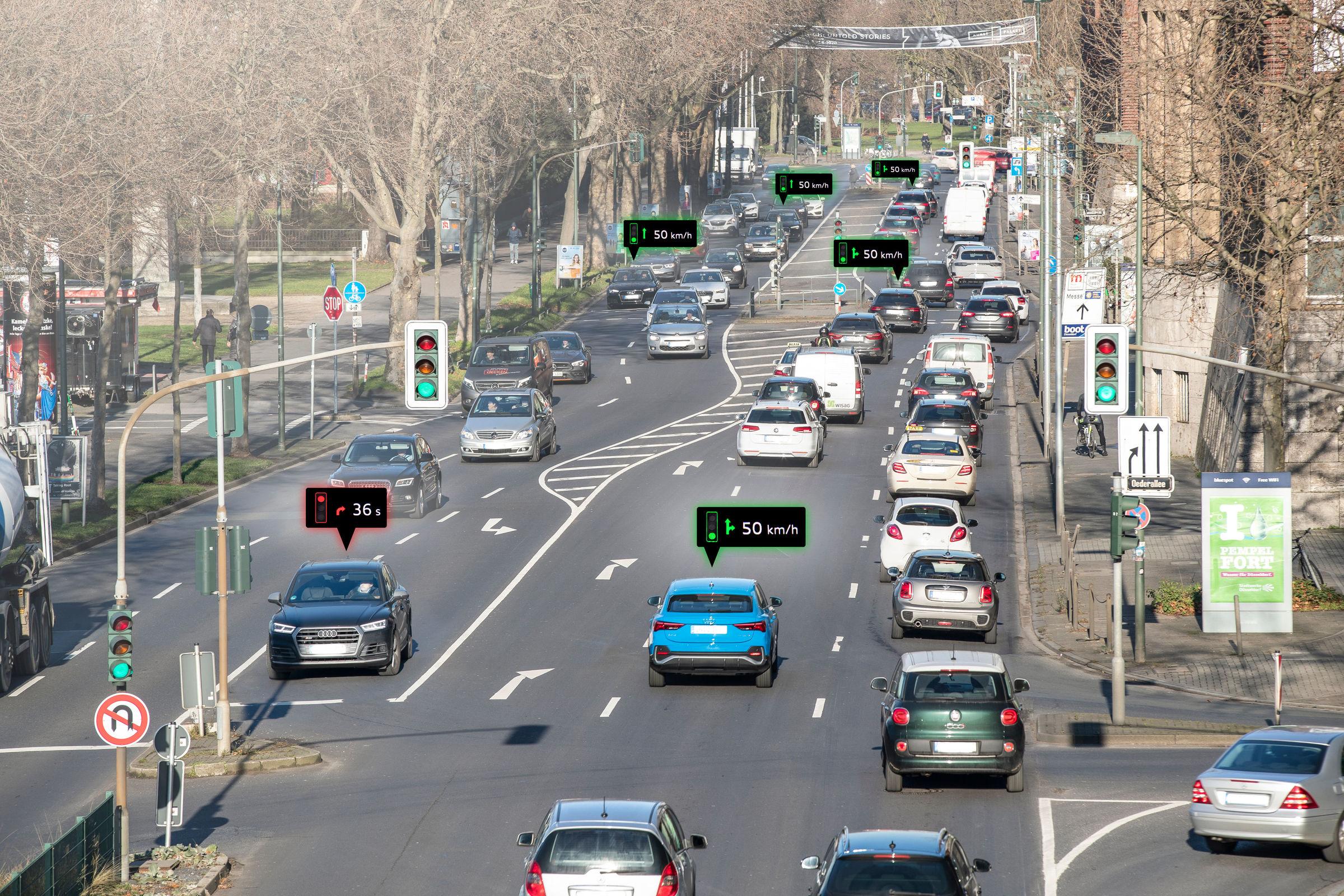 Audi networks with traffic lights in Düsseldorf - Image 6