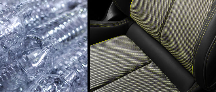 From bottle to fabric: Seat upholstery made of PET