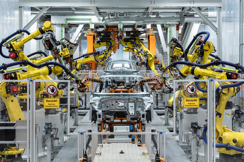 Production of the Audi A3: Body shop Audi Site Ingolstadt