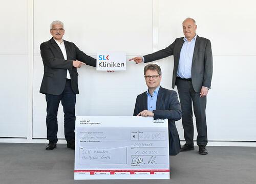 Corona-Hilfe: Audi spendet 600.000 Euro an Kliniken der Heimatstandorte