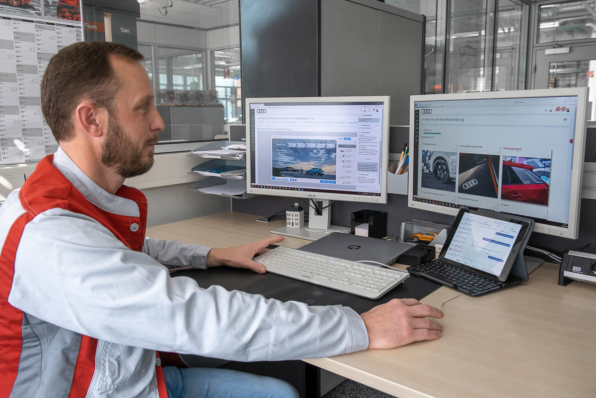 Digital life in times of corona: ||home learning for Audi apprentices
