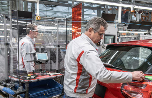 Audi production gradually restarts in Europe