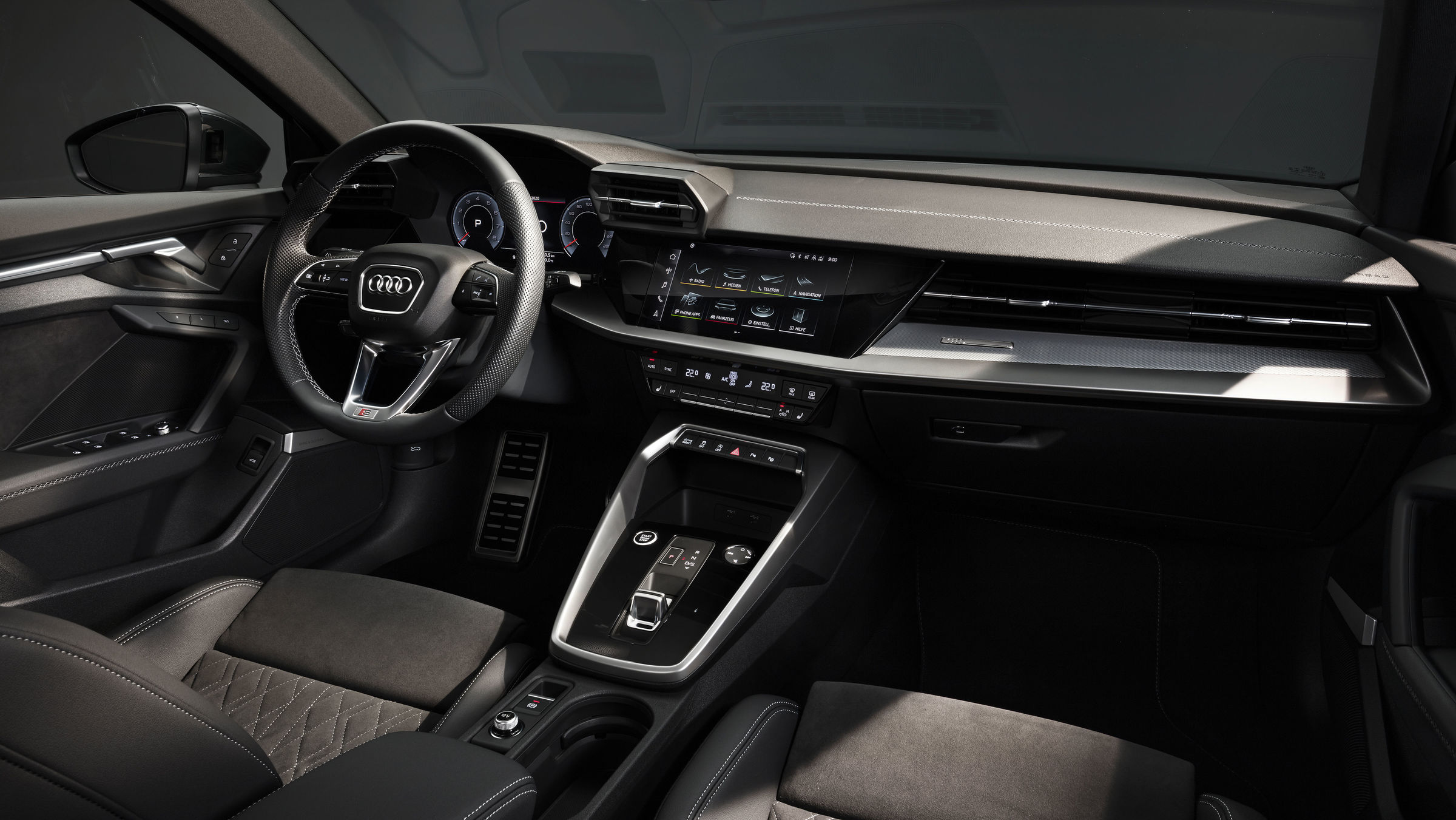 2021 Audi A3 sedan interior