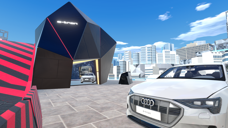 Audi e-tron Sportback conquers the virtual world