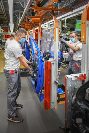 Restart of production at Audi in Ingolstadt