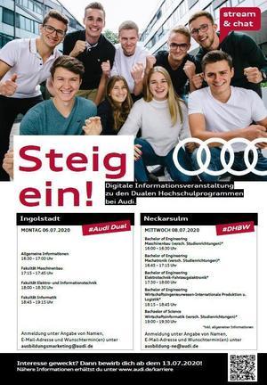 Richtung Zukunft: Duales Studium bei Audi