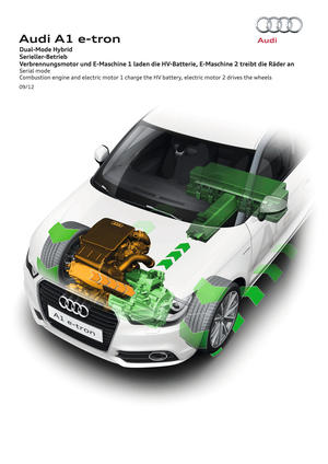 Audi Dual-Mode Hybrid Serial mode